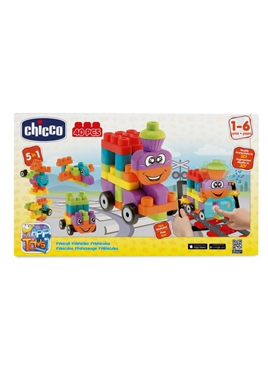 Toy Buıldıng Blocks Vehıcles Set 40 Pcs-Chicco
